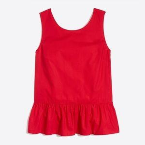 JCrew | Bow Back Peplum Tank